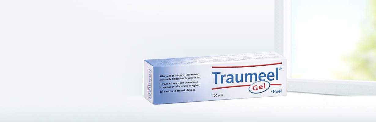 Traumeel gel - packshot banner